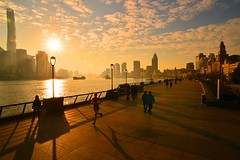 Shanghai - Morning on the Bund (cnmark) Tags: china shanghai huangpu district bund morning sunrise    allrightsreserved