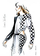 img951 (Irina V. Ivanova) Tags: 365sketches fashionillustration sketching fashion louisvuitton