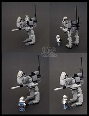 Lone Wolf and Walker (LegoLee) Tags: wolf wolfpack lego bradbury clonetrooper walker starwars grandarmy republic 104thbattalion 104th 104thbn toy x100 fuji fujifilm dc17m blaster