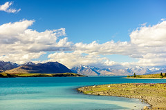 Lake Tekapo, NZ (tom.ye) Tags: newzealand tekapo landscape nz lake mountains water blue southisland