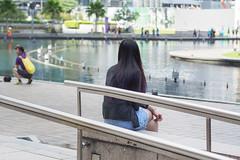 (yangkuo) Tags: longhair pondering highlight ash indigo purple mzuiko 45mm klcc park