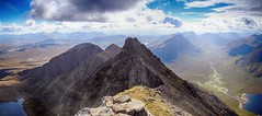 An Teallach panorama (OutdoorMonkey) Tags: anteallach sgurrfiona munro summit peak mountain panorama panoramic view viewpoint scenic scenery scotland wild wilderness remote countryside lochtollanlochain lochnasealga gleannnamuice