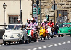 Florence / Firenze, Italy (Ineke Klaassen) Tags: vespa vespas fiat vehicle vehicles italy italia italie italien italië italian firenze florence ciclomotore colour color street straatfotografie streetphotography streets streetview streetlife photography fotografie fotografia toscana toscane tuscany tuscan strada car cars auto autos sony sonya6000 sonyalpha sonyalpha6000 sonyimages city citylife driving scooter moped mopeds italianwheels outdoor 55210mm 15favs 1025fav 1000views 20faves