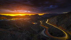 Dragons Tail (Busmalo) Tags: california sunset sunrise landscapes roads rokinon14mm wideangle panoramic 14mm sony a7ii mirrorless longexposure light