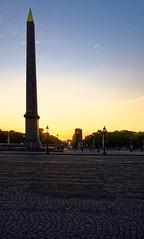 Oblisque de la Concorde (Joseph Trojani) Tags: paris placeconcorde concorde placedelaconcorde coucherdesoleil sunset arcdetriomphe champselyse nikon d7000 nikonpassion