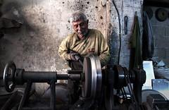 Tray Maker (kemal atli) Tags: turkey tray making handcraft old man adana portrait smile hand tools nikon d90