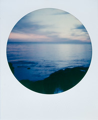 Marblehead, Ohio Sunrise (The Stugots) Tags: impossible project color white round frame sunrise polaroid closeup 600 lake erie marblehead ohio water sky nature film photography clouds instant classic onestep pweek polaroidweek roid week roidweek