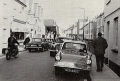 Temple Street, Sidmouth, 1973. (Sidmouth Ian) Tags: sidmouth 105e anglia templestreet