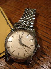 "OMEGA SEAMASTER WRISTWATCH WITH ORIGINAL BAND. • <a style=""font-size:0.8em;"" href=""http://www.flickr.com/photos/51721355@N02/30171908422/"" target=""_blank"">View on Flickr</a>"