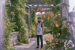 ° (333Bracket) Tags: nikonem50mmf18 london 333bracket 35mm film analogue boy idan garden flowers satan peach obey