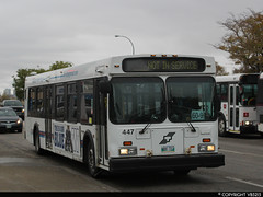 Winnipeg Transit #447 (vb5215's Transportation Gallery) Tags: winnipeg transit 1999 new flyer d40lf