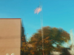 11/16 (nikaylasnyder) Tags: motion blur long exposure swirl landscape trees homes houses mcdonalds blue skies fall autumn filter