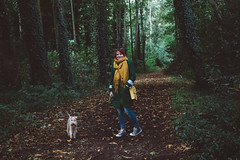 Endor Chic (I AM JAMIE KING) Tags: endor woodland trees forest ivy nature autumn terrier lakelandterrier style