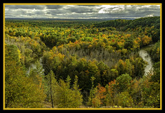 High Rollways Overlook (TAC.Photography) Tags: fallcolors teees beautifulview michiganwoods riverscene tacphotography landscapephotography autumn buckleymichigan manisteeriver riverbend nature vista scenery