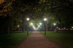 Night In The Kadriorg Park (k009034) Tags: 500px trees baltic countries copy space estonia kadriorg tallinn autumn grass green lamp post lantern leaves nature night no people old park path travel destinations teamcanon