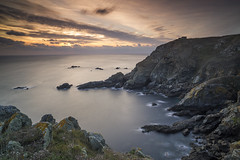 End of Land (scott.hammond34) Tags: landscape seascape sunset bluehour pleinmont naturereserve cliffs bay coast sea rocks rockformation scenic vista sky cloud muted longexposure outdoor canon6d distagont2821