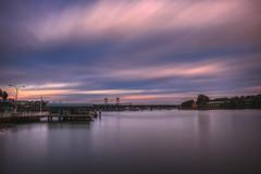 Blue/Pink Hour (satochappy) Tags: sunset twiilght bluehour river parramattariver nsw australia sydney ferryport