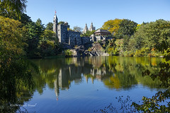 Castle Reflections (CVerwaal) Tags: autumn belvederecastle centralpark reflections sanremo newyork ny usa sonyrx100iii