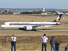 """Singapore Airlines. Delivery for Airbus A350 Stycker """"10,000 The Airbus Aircraft"""". (Jacques PANAS) Tags: singapore airlines airbus a350941 9vsmf msn054"""