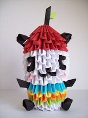 Pandapple (lesandxf) Tags: origami 3dorigami crafts papercrafts handmade handmadepapercrafts