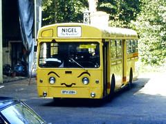 Slide 079-70 a (Steve Guess) Tags: cobham surrey england gb uk lcbs london country aec swift sm nigel bph128h sm128 newsbus theadvertiser bus museum redhillroad