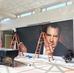 Museum, Nixon Library, Mural
