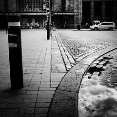puddle (s_inagaki) Tags: puddle helsinki finland snap street blackandwhite bnw bw