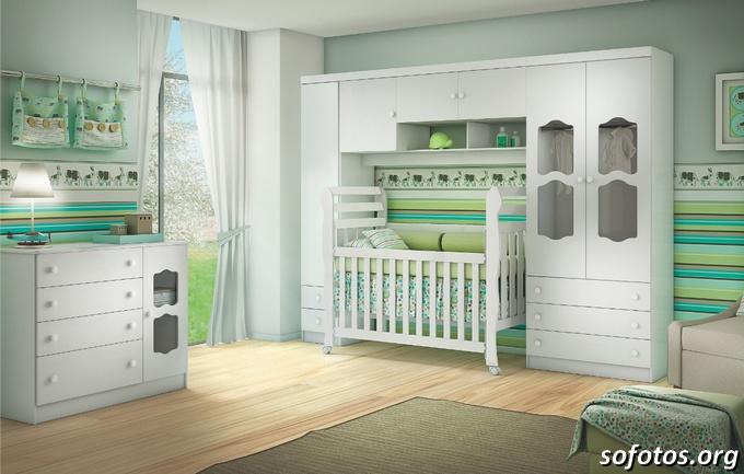 Quarto de bebe completo verde