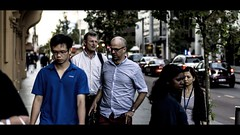 Walking & Talking (Daniel E Lee) Tags: street people canon walking bokeh streetphotography busy talking cinematic 550d t2i sigma50mm14 kissx4 cinematicstreetphotography photosbydlee photosbydlee13
