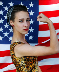 Breanna (Sarah Adriana) Tags: girls portrait hippies america portraits vintage freedom women rosietheriveter flag rights hippie feminism feminist 1950 1960