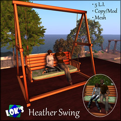 Lok's Heather Swing (Sera Lok) Tags: free sl secondlife gift homestuff