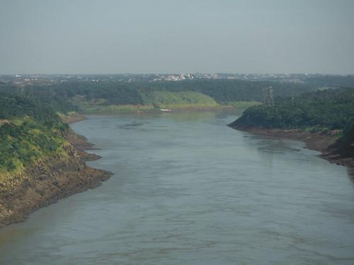 Itaipu river, downstream of dam