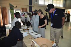 Staff and relations at ILRI stand at Open Day 2012 (IITA Image Library) Tags: relations audiences recreationalactivities openday2012