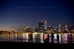 Facetime (Helen Vercoe) Tags: city skyline night reflections lights cityscape colours nightscape australia perth nightsky shimmer perthwa
