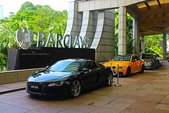 Black & Yellow (Jason Chan 128) Tags: black cars sports yellow bmw m3 audi coupe 42 gts r8