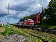Meg 304 (218 390) met slooptransport te Lintorf (treinfreak800) Tags: trier db dbc 218 304 390 meg slooptransport zug lintorf