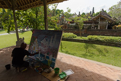 Painting at the Temple (Corey Hamilton) Tags: bali temple streetphotography
