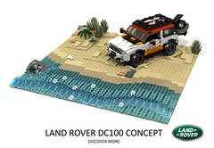 Land Rover DC 100 Concept (lego911) Tags: land rover dc 100 dc100 concept suv 4x4 4wd offroad landie truck auto car moc model miniland lego lego911 ldd render cad povray 2011 2010s uk england british lugnuts challenge 105 thegreatoutdoors great outdoors cross country