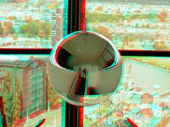 Euromast Rotterdam 3D (wim hoppenbrouwers) Tags: euromast rotterdam 3d anaglyph stereo redcyan spiegelbal mirror ball