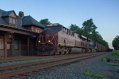 NS 777 - Greencastle, PA (T-3 Photography) Tags: train railroad heritage railfan norfolksouthern class1 locomotive generalelectric ge station trainstation