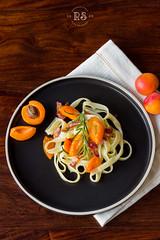 apricot & bacon pasta (wylinka) Tags: food pasta apricot bacon
