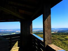 Aussicht vom Pferdskopf bei Treisberg (10.000 Schritte) Tags: wald treisberg schmitten pferdskopf taunus natur pflanzen aussicht bäume baum wolken himmel blau sonne aussichtsturm obertaunus