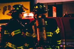 What's The Game Plan ? (JMJ Cinematics) Tags: fire nyc nuevayork newyorkcity manhattan fdny firefighter ny newyork photojournalist photojournalism chinatown fuego bombero firefighters 50mm jmjcinematics josemiranda streetphotography nightphotography nightphotos