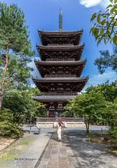 Ninnaji Pagoda (Kostas Trovas) Tags: portrait hdrfromoneraw asia nature mefoto canon light culture kyoto blue ninnaji beautiful travel buddhism hdr 6d sky green trees temple japan pagoda