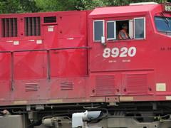 Eastbound through Revelstoke (jamica1) Tags: revelstoke bc british columbia canada locomotive cp cpr 8920 engineer