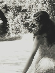 Dancing in the forest #forest #inthewoods #magical #nature #vintage #lacedress #flowercrown #blackandwhite (vittoriabaldassarre) Tags: blackandwhite lacedress inthewoods nature vintage magical flowercrown forest