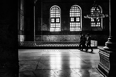 Three Kings / What a nice view (zgr Grgey) Tags: 2016 35mm bw d750 darkcity hagiasophia nikon samyang unesco worldheritagesites architecture chandelier lowlight shadow silhouettes stone istanbul