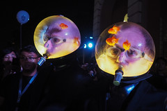 Fishbowls on Heads (elenaleong) Tags: nightfest16 fishbowls stuckinheads nightfestival16 singapore elenaleong streetcapture