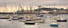 Yachts at Falmouth, Cornwall (Baz Richardson (now away until 30 Nov)) Tags: cornwall falmouth yachts harbours docks falmouthdocks penrynriver rivers smallboats buoyant