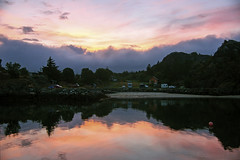 As dawn reaches the Lofoten islands (lunaryuna) Tags: norway lofoten lofotenislands lofotenarchipelago sanvikabay orsvagvaer island water bay norwegiansea reflections seeingdouble northernmirrorworlds sunrise sky cloudscape colour nature beauty campingground summer season seasonalwonders lunaryuna
